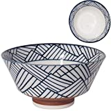 みのる陶器美濃焼 寿々-JUJU- 反型茶碗呉須 網代紋φ12.8×H6.5cm