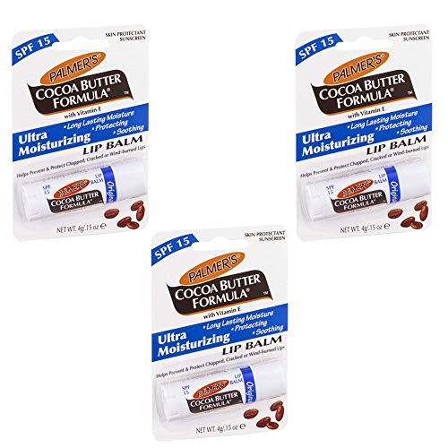 Palmer\'s Original Bálsamo labial fórmula de manteca de cacao con SPF15 (3 x 4 g).