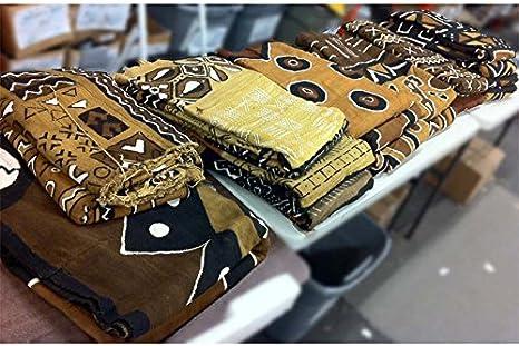 Mali Vib Rust Authentic African Bogolan Mud Cloth Bambara