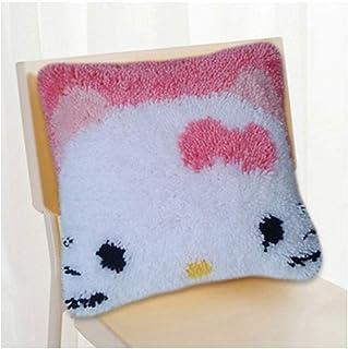 Kits de Crochet de Verrouillage for Les débutants Loquet Crochet Kit Bricolage Tapis Coussin Tapis Crocheting Couture Bric...