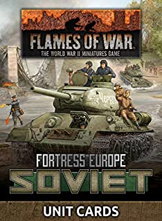 Flames of War: Late War: Soviet: Fortress Europe Unit Cards (FW261S)