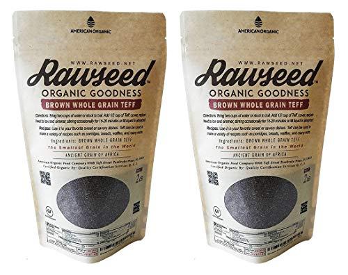 Rawseed Organic Brown Whole Grain African Teff 2 lbs Glutenfrei
