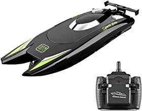 GoolRC Barcos RC para niños Adultos 25 km / h Barco de Carreras de Alta Velocidad 2 Canales Barcos de Control Remoto para Piscinas Barco de Carreras