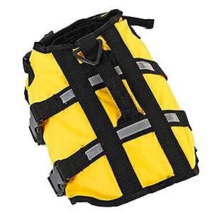 Jiacheng29 Chien pour animal domestique Float Gilet de sauvetage Bande réfléchissante Veste de sécurité de natation Bateau LifeJacket
