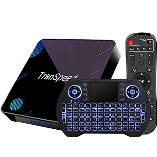 Android TV Box 10, 4GB 64GB Support 8K 3D 4K, Amlogic s905x3 Smart tv Box with Mini Keyboard
