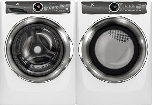 """Electrolux White Front Load Laundry Pair with EFLS627UIW 27"""" Washer and EFME627UIW 27"""" Electric Dryer"""