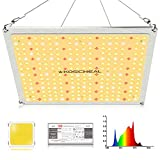 KOSCHEAL 1000W Panel LED Plant Grow Light, 256PCS LEDs, Advanced Sunlike Full Spectrum, Cool White Light with Daisy Chain, For Indoor Plants Germination, Seedling&Flowering