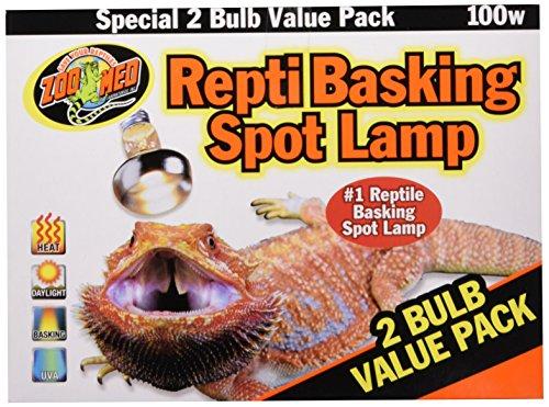 Zoo Med Repti Basking Spot Strahler für Wärme und Licht im Terrarium, Doppelpack 2x 100 W - 2