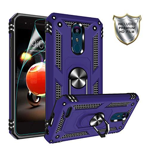 Gritup LG Tribute Empire Case, LG Aristo 3/Aristo 2/Rebel 4 LTE/Aristo 2 Plus/Phoenix 4/Tribute Dynasty/Zone 4 Case Magnetic Car Mount Ring Holder Stand Kicktand Phone Case for LG K8 2018 Purple