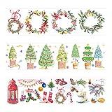 Greetuny Washi tape ancho Navidad decoración DIY Scrapbooking Creativo Cinta washi vintage Regalo Bricolaje herramientas Cinta adhesiva washi (3pcs/Set)