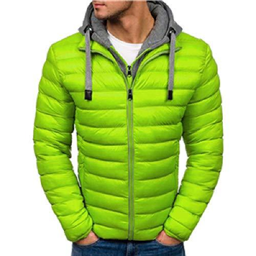 Unbekannt Winterjacke Männer Kapuze Parka Baumwollmantel 7 Farben Plus Size Warme Kleidung Männer Jacke Casual Outwear Mantel Jacken Set