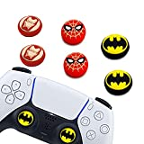 6Pcs Analog Thumb Grip Stick Cover, Dualsense Wireless Controllers Game Remote Joystick Cap, Fantastic Non-Slip Silicone Handle Protection Cover for PS5/PS4/Xbox one/360/Nintendo Switch PRO (A) (B)