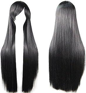 Topbuti Black Long Straight Anime Supia-Yisol Cosplay Wigs 80cm