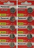 Panasonic Lithium-Knopfzelle CR1632, 3 V, 10 Batterien pro Packung