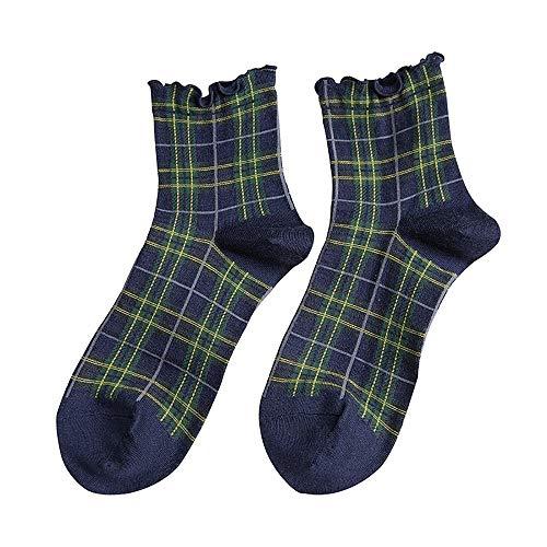 GKKXUE middenbuis houten oor komen vrouwelijke Japanse college wind retro rooster luifel sokken vrouwelijke wind vrouwelijke sokken (5 paar)