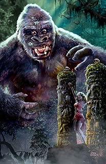 3 SIZES King Kong art poster print Skull Island classic horror movie monsters by artist Scott Jackson (11 x 17 inches)