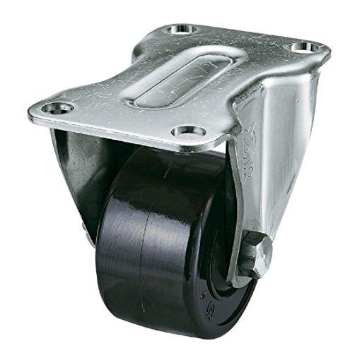 ユーエイキャスター事業部 ユーエイ 重量用ステンレスキャスター固定車50径強化ナイロン車輪 SUS-HR-50GNB