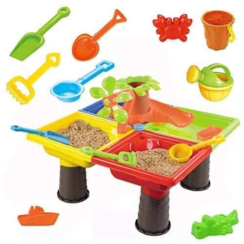 Juego de mesa de arena y agua de verano de juguete de arena mesa de agua mesa de juegos de niños mesa de juegos de arena y agua de playa juguetes Set mesa de juego