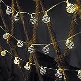 RTUTUR Luces de Vacaciones de Cuerda de luz de Metal, 20 Luces Hadas Decorativas Lámpara de Globo Cuerdas Fairy Powered Fairy.