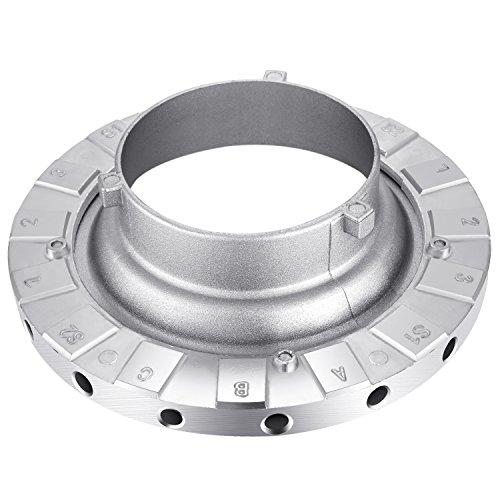 Neewer Metall Bowens Speed Ring Speedring Adapter für Bowens Softbox für Speedlite Studio Blitzlicht Monolight