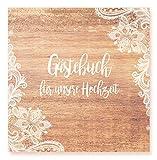 Edition Seidel Premium Gästebuch Hochzeit - Hochwertiges Hardcover-Buch mit 144 weißen Seiten Format 21 x 21 cm Hochzeitsgästebuch Hochzeitsbuch Geschenk