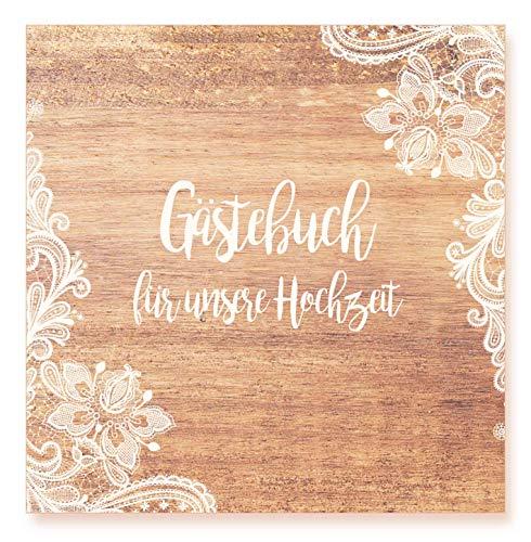 Edition Seidel Premium Gästebuch zur Hochzeit - Hochwertiges Hardcover-Buch mit 144 weißen Seiten Format 21 x 21 cm Hochzeitsgästebuch Geschenk Hochzeit