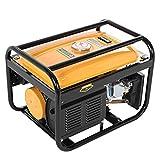 Portable Generator Engine, Easy Starting Petrol Engine, Lightweight & Compact 4000 Watt Inverter Generator Gas Powered Generator Engine for Camping (Yellow)
