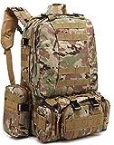 ZJR Outdoor Mountaineering Backpacks Unisex Travel Backpack Tactical Waterproof Bag Multifunction Camouflage Hiking Backpack (D)