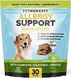 PetHonesty Allergy Support Fresh Sticks - Dental Sticks for Dogs - Natural Dental Dog Chews - Immune Health + Allergy Support for Dogs - Freshen Dog Breath, Reduce Plaque + Tartar - 30 Sticks