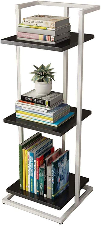 LQQGXLoffice Furniture Bookshelf Narrow Floor Word partition Shelf Iron Frame Bedroom Creative Small Bookcase (color   C)