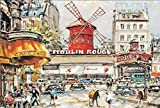 Puzzles - World Famous Painting- Moulin Rouge- 1000 Piece Jigsaw Puzzle - 75 X 50Cm Puzzle - For Adults Or Kids Game Hand Made Puzzles Personalized Gift