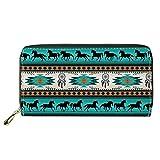 Portefeuille Long pour Femme, Motif Boho aztèque de capteur de rêves,...