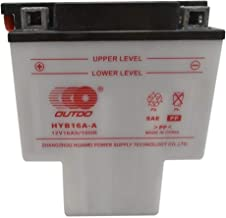 ZXTDR HYB16A-AB 12V 16HA T Shaped Battery for Motorcycle