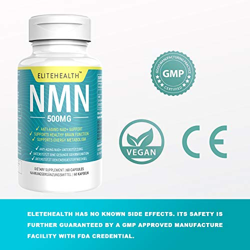 51q exQLMgL - One Bottles PUREST NMN for NAD Support | 60 Grain |Each Capsules 250mg | Supplement for Anti-Aging & Energy Metabolism | Vegan Friendly (1 Pack)