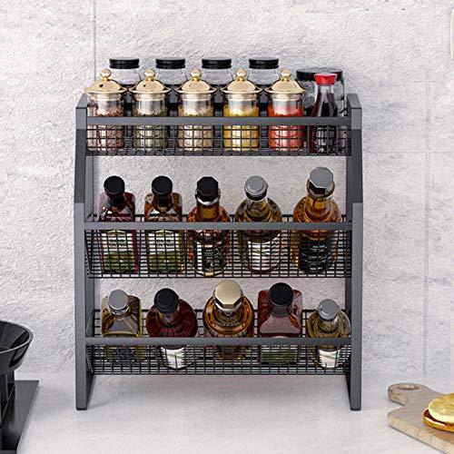 Spice Rack 3 Tier Spice Rack Bathroom Countertop Storage Shelf Bathroom Shelf Holder Hanging For Kitchen Countertop Storage