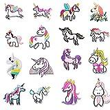 Parches Ropa Niña Unicornio, Parches para Planchar con diseño de Unicornio, Parches Bordados Plancha para DIY Costura, Parches Ropa Termoadhesivos para manualidades, camisas, vaqueros, ropa, bolsos