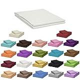 Qool24 Klassische Bettlaken 100x170cm zahlreiche Unifarben 100% Baumwolle Betttuch zum unterstecken -60x120cm & 70x140cm- Weiß