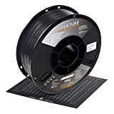 OVERTURE TPU High Speed Filament 1.75mm Flexible TPU Roll,1kg Spool (2.2lbs),3D Printer Consumables,Dimensional Accuracy 99% Probability +/- 0.03mm, Fit Most FDM Printer,1 Pack (Black)