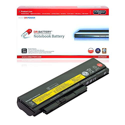 Dr. Battery Laptop Battery for Lenovo 42T4868 45N1023 0A36283 ThinkPad X220 only [11.1V/4400mAh/49Wh]