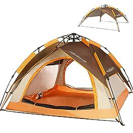 ZOMAKE Instantanée Pop Up Tente de Camping 3 Personnes, Automatique Imperméable à l'eau Tente pour la Pêche à l…