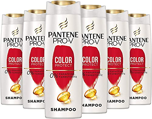 Pantene Pro-V Color Protect Shampoo, 6er Pack (6 x 300 ml), Schutz Für Gesund Aussehenden Glanz, Shampoo Damen, Haarpflege Glanz, Haarpflege, Coloriertes Haar,...