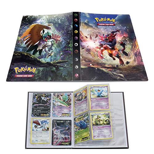Trading Cards Album Book Best Protection Cards Binder Cards Holder Album for Pokemon - GX EX Box (Incineroar)