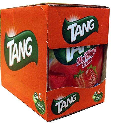 Tang, Préparation en Poudre pour Boisson, Boisson Goût Fraise, 15 Sachets x 2 gr