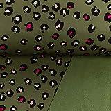 Softshell Animalprint grün - Preis gilt für 0,5 Meter