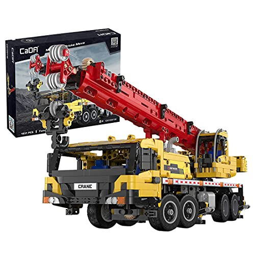 SERBVN Tecnic Gru Mobile, Gru Set da Costruzione di Veicoli per l'Edilizia, Gru Compatibile con Lego Technic - 1831 Pezzi