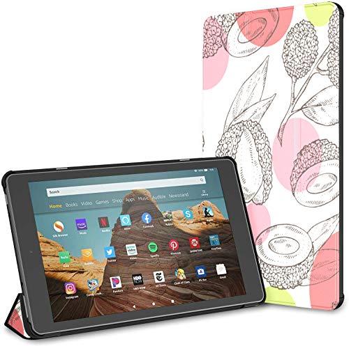 Custodia per tablet Chinese Delicious Lychee Fire Hd 10 (9a settima generazione, versione 2019 2017) Custodia per tablet FireHd10Custodia per KindleFireHdRiattivazione sospensione automatica per