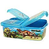 Depesche 10923 Brotdose aus Kunststoff Dino World, frei von BPA und Phthalaten, ca. 13,7 x 18,3 x 5,7 cm