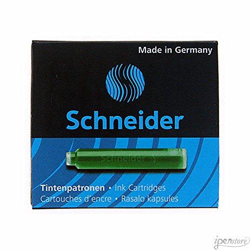 Schneider Schreibgeräte Standard-Tintenpatronen, passend in SCHNEIDER und viele andere, grün, 6er