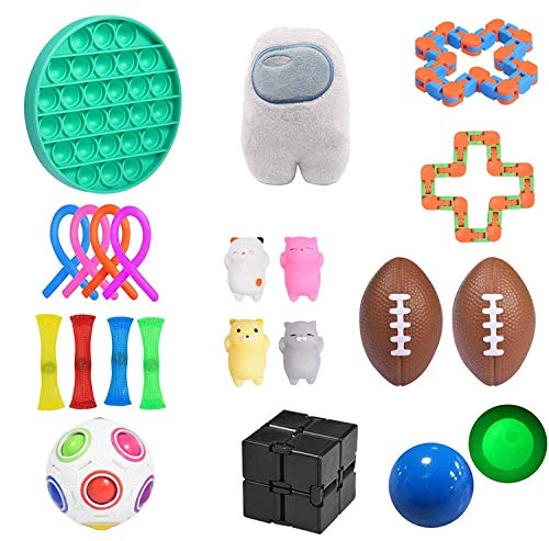 NUENUN Sensory Fidget Toys Set, Stress Relief Toy Set, Adult Decompression and Anti-Anxiety Toys, Children's Attention Deficit hyperactivity Disorder (Set 2)
