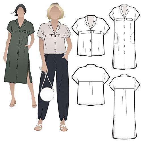 Style Arc Schnittmuster – Monty Shirt und Kleid (Größen 04–16)